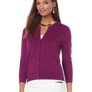 NWT Wendy Williams Fashion Cardigan Plum
